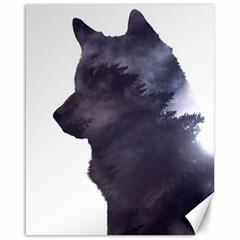 Black Wolf  Canvas 16  X 20