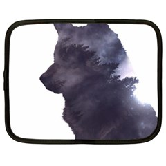 Black Wolf  Netbook Case (xl)