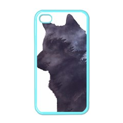 Black Wolf  Apple Iphone 4 Case (color)