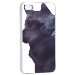 Black Wolf  Apple Iphone 4/4s Seamless Case (white)