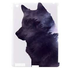 Black Wolf  Apple Ipad 3/4 Hardshell Case (compatible With Smart Cover)