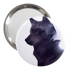 Black Wolf  3  Handbag Mirrors