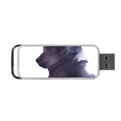 Black Wolf  Portable Usb Flash (one Side)