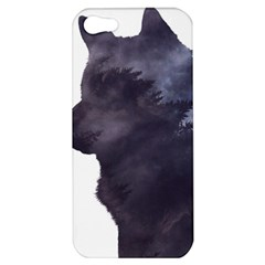 Black Wolf  Apple Iphone 5 Hardshell Case