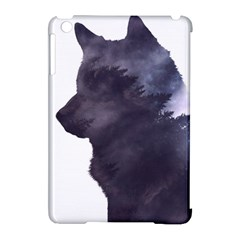 Black Wolf  Apple Ipad Mini Hardshell Case (compatible With Smart Cover)