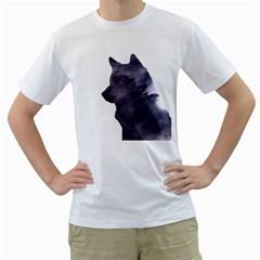 Black Wolf  Men s T Shirt (white)