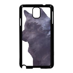 Black Wolf  Samsung Galaxy Note 3 Neo Hardshell Case (black) by sherylchapmanphotography