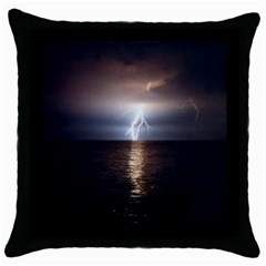 Lightning Throw Pillow Case (black)