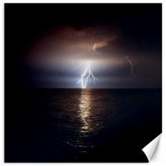 Lightning Canvas 12  X 12