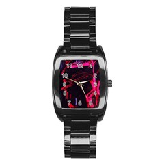 Calligraphy 4 Stainless Steel Barrel Watch
