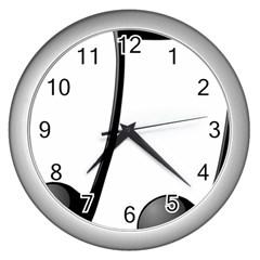 Music Note Wall Clocks (silver)