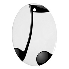 Music Note Oval Ornament (two Sides)