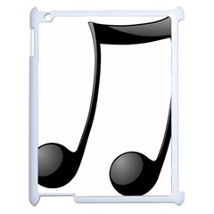 Music Note Apple Ipad 2 Case (white)