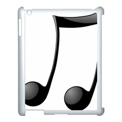 Music Note Apple Ipad 3/4 Case (white)