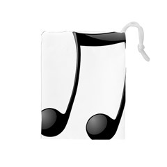 Music Note Drawstring Pouches (medium)