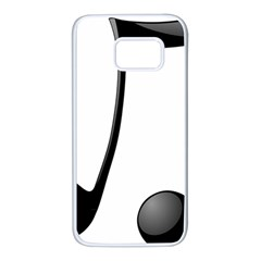 Music Note Samsung Galaxy S7 White Seamless Case