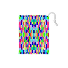 Artwork By Patrick Colorful 35 Drawstring Pouches (small)
