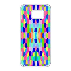 Artwork By Patrick Colorful 35 Samsung Galaxy S7 Edge White Seamless Case