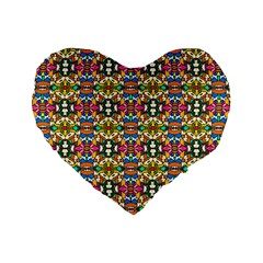 Artwork By Patrick Colorful 36 Standard 16  Premium Flano Heart Shape Cushions