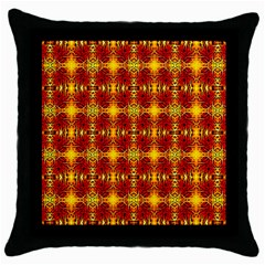 Artwork By Patrick Colorful 37 Throw Pillow Case (black)