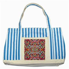 Artwork By Patrick Colorful 38 Striped Blue Tote Bag