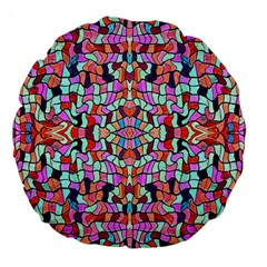 Artwork By Patrick Colorful 38 Large 18  Premium Flano Round Cushions