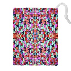 Artwork By Patrick Colorful 38 Drawstring Pouches (xxl)