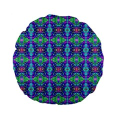 Artwork By Patrick Colorful 41 Standard 15  Premium Flano Round Cushions