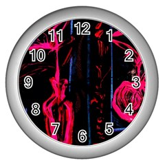 Calligraphy Wall Clocks (silver)