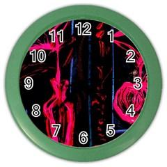 Calligraphy Color Wall Clocks