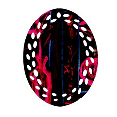 Calligraphy Oval Filigree Ornament (two Sides)