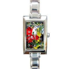Bow Of Scorpio Before A Butterfly 2 Rectangle Italian Charm Watch