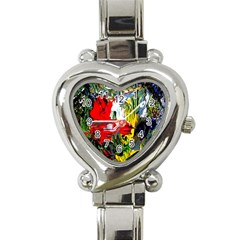 Bow Of Scorpio Before A Butterfly 2 Heart Italian Charm Watch by bestdesignintheworld
