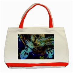 Blue Options 3 Classic Tote Bag (red)