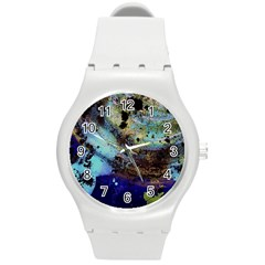 Blue Options 3 Round Plastic Sport Watch (m)