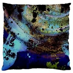 Blue Options 3 Large Cushion Case (one Side) by bestdesignintheworld