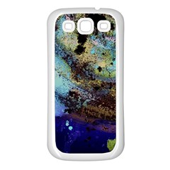 Blue Options 3 Samsung Galaxy S3 Back Case (white)