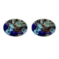 Blue Options 3 Cufflinks (oval)