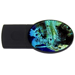 Blue Options 6 Usb Flash Drive Oval (4 Gb)
