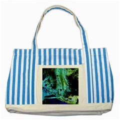 Blue Options 6 Striped Blue Tote Bag