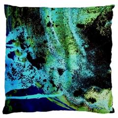 Blue Options 6 Large Cushion Case (two Sides) by bestdesignintheworld