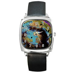 Blue Options 5 Square Metal Watch