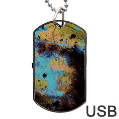 Blue Options 5 Dog Tag Usb Flash (two Sides)