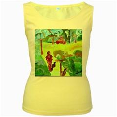 Trail 1 Women s Yellow Tank Top