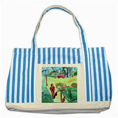 Trail 1 Striped Blue Tote Bag