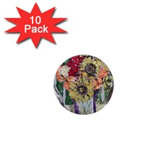 Sunflowers And Lamp 1  Mini Magnet (10 Pack)  by bestdesignintheworld