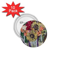 Sunflowers And Lamp 1 75  Buttons (10 Pack)