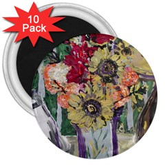 Sunflowers And Lamp 3  Magnets (10 Pack)