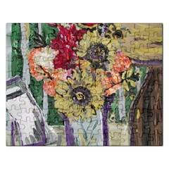 Sunflowers And Lamp Rectangular Jigsaw Puzzl by bestdesignintheworld