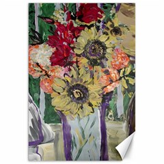 Sunflowers And Lamp Canvas 20  X 30